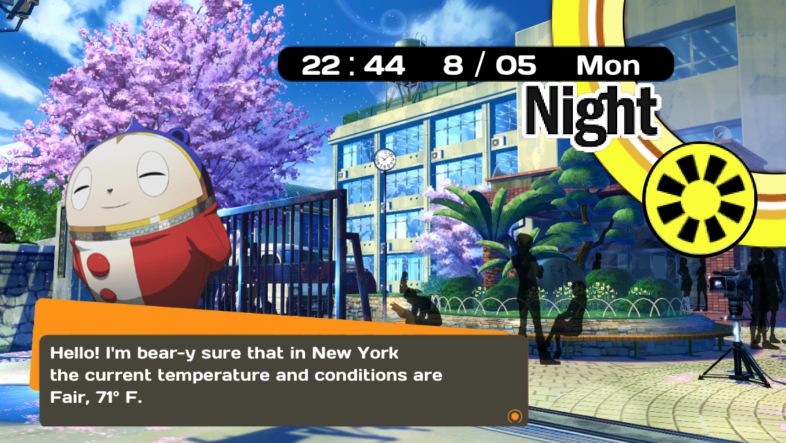Persona 4 Weather App for the iOS (3) - Nihongogo