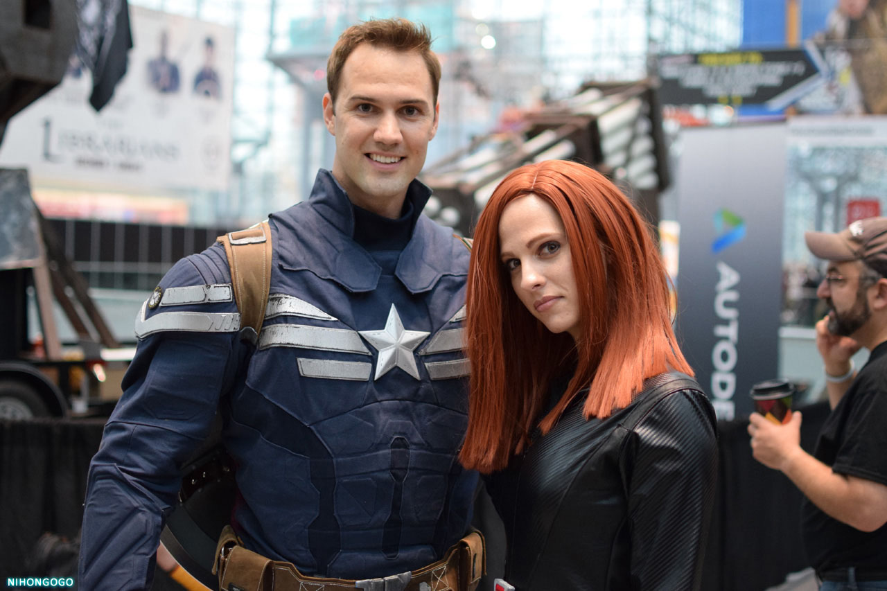 Cosplay Roundup At The 2014 New York Comic Con Friday Captain American And Black Widow Nihongogo